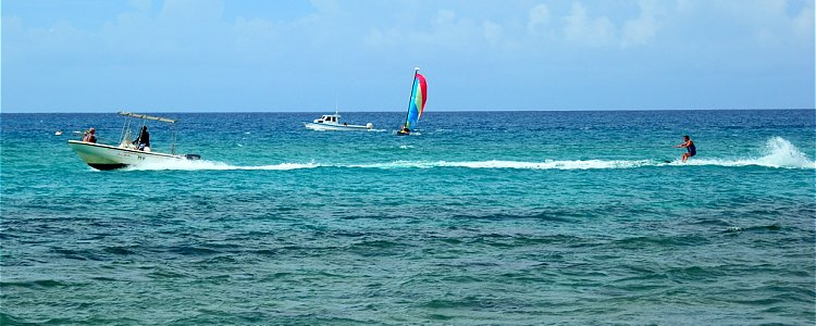 Waterskiing in Barbados