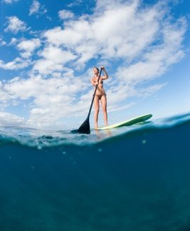 Try stand up paddle boarding in Barbados!
