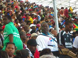 Barbadians enjoying a cricket match