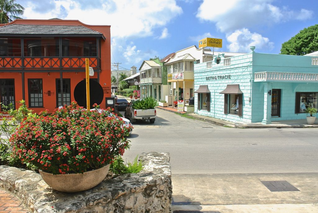 Barbados tourism reopening - Holetown boutiques and restaurant s and the renowned limegrove galleries cinema and stores are open now!