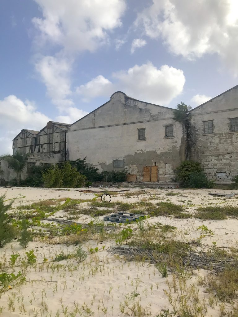 Barbados Hyatt Ziva Hotel construction begins with demolition of warehouses on  the beach.