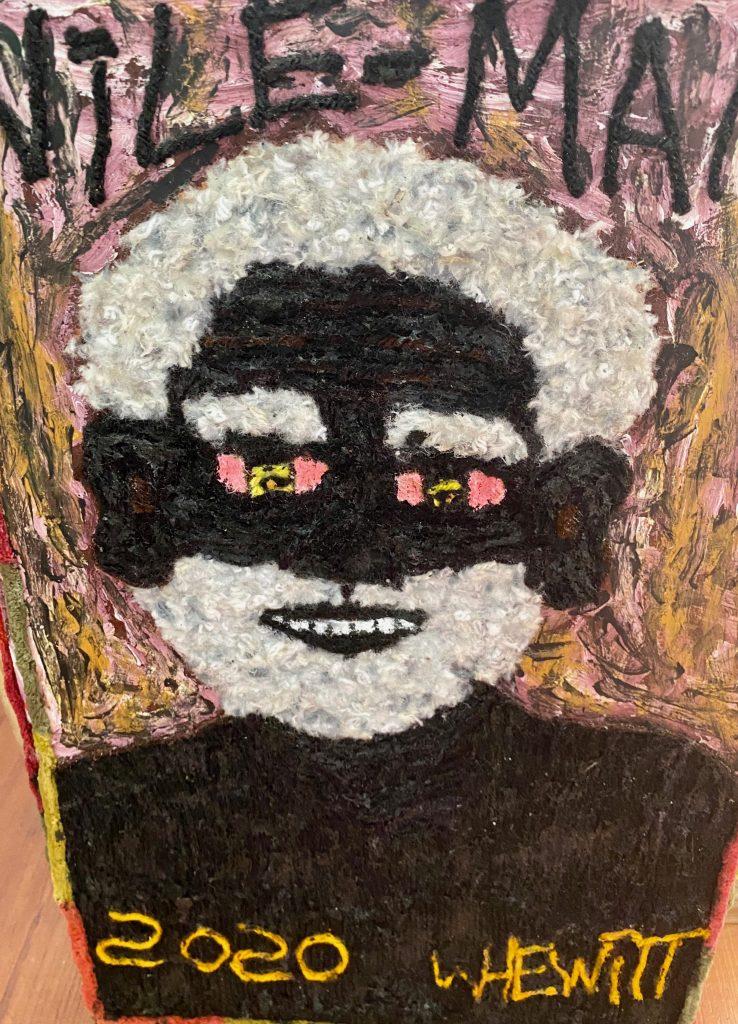 artist Woolly Hewitt Portrate in wool