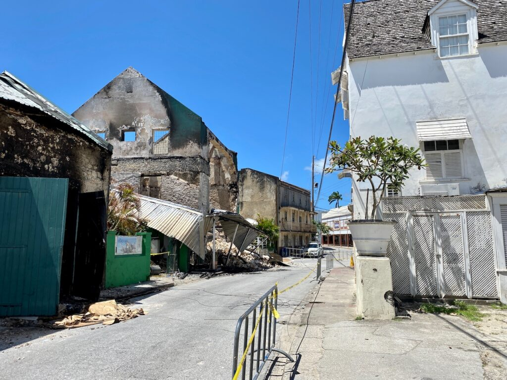 fire devastates Speightstown leaving smoldering rubble in the empty spaces