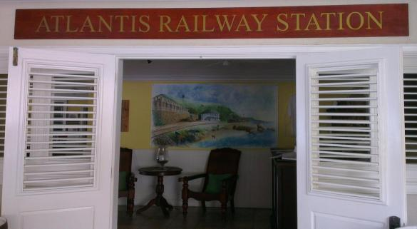 Atlantis Hotel - Railway Station Sign