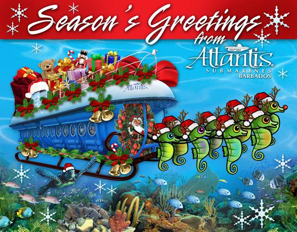 Season's Greetings from Atlantis Submarines Barbados