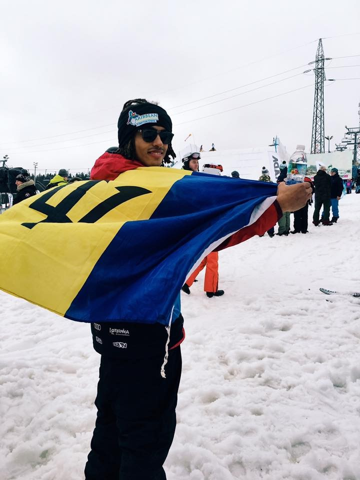 Barbadian Victor White Wins Europa Cup Ski Award