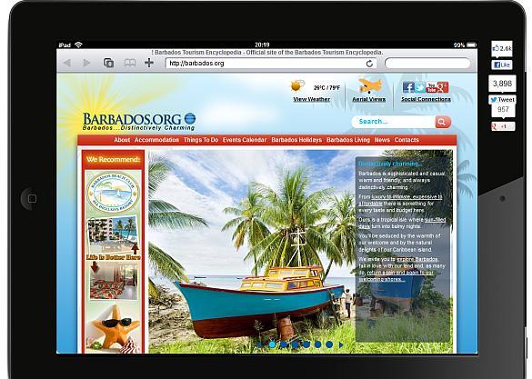 Redesigned Barbados.org