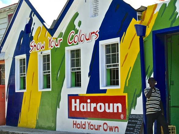 Barbados rum shop sponsored by Hairoun beer