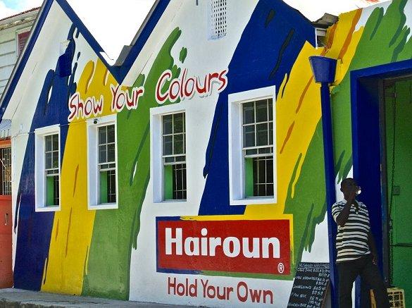 Barbados rum shop sponsored by Hairoun beer