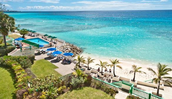 Budget beachfront hotel