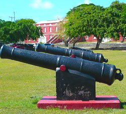 Part of the impressive cannon collection!
