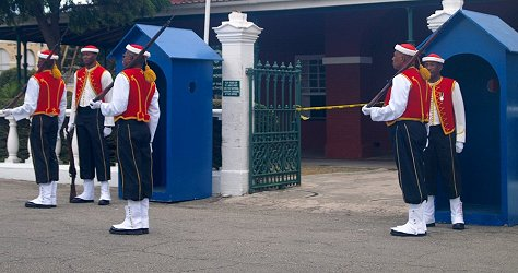 Changing of the Sentry at the Main Guard, Barbados