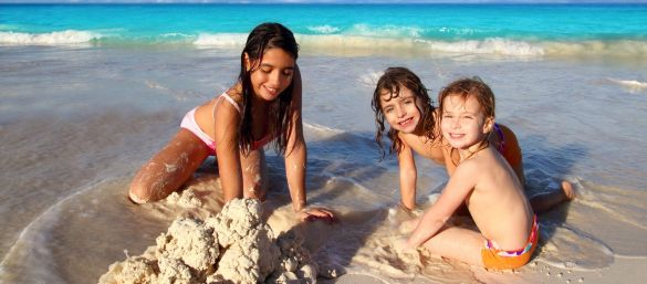 Kids love Barbados beaches