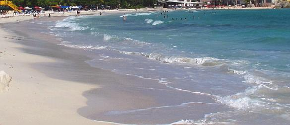 Clean beach at Accra on the south coast of Barbados