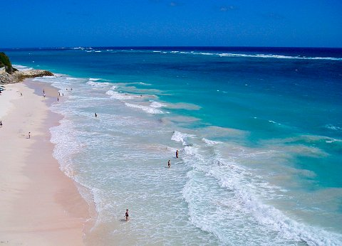 Beautiful Crane Beach, Barbados