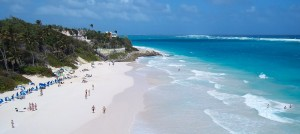 Crane beach in beautiful Barbados