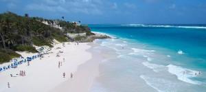 Crane beach in beautiful Barbados