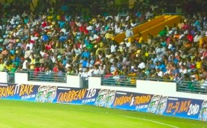 Crowd in the Greenidge and Haynes stand