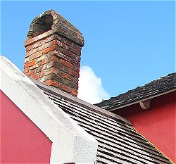 Kitchen chimney at Gun Hill