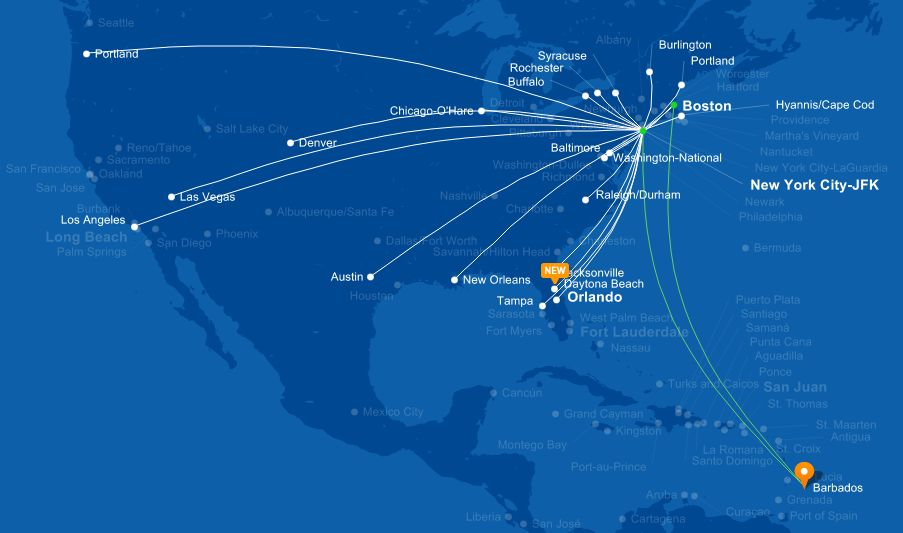 Jetblue Airports Map | Country Map