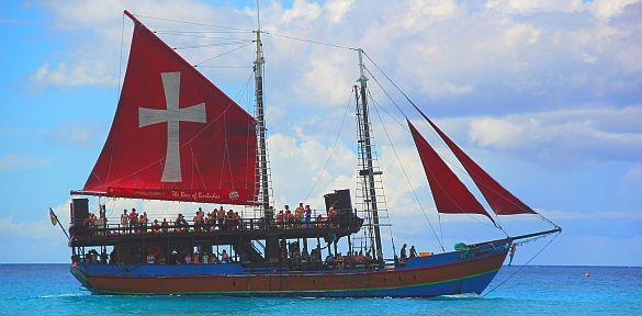 Jolly Roger pirate ship Barbados