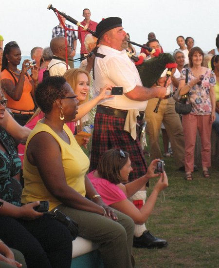 The crowd thoroughly enjoyed the start of the Barbados Celtic Festival 2012!