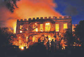 Fire Destroys Sam Lords Castle in 2010