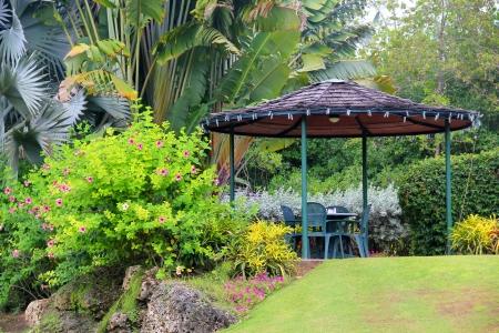 Garden cabana at the Sanctuary Cafe