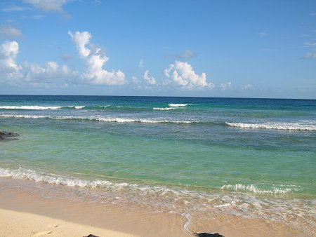Beach in front the SoCo Hotel in Barbados