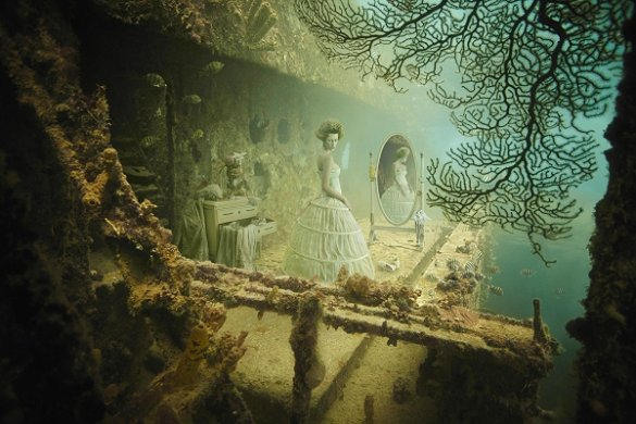 An underwater art gallery!
