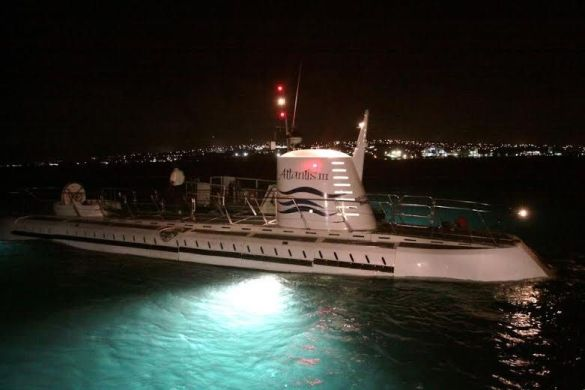 Atlantis Submarines night dive in Barbados