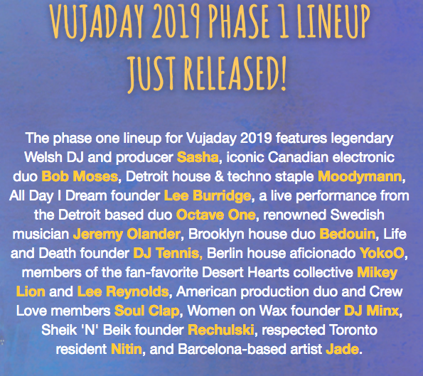 vujaday music festival barbados phase 1 lineup