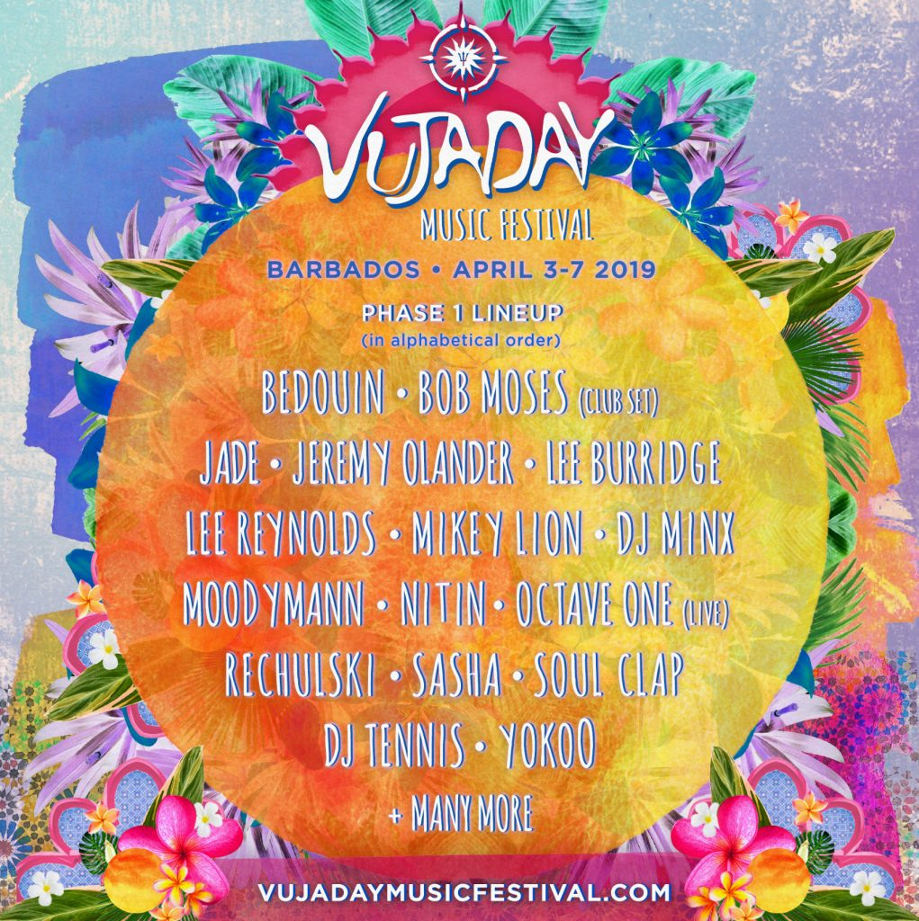 Barbados Vujaday Musiv Line up 2019
