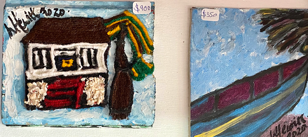 Woollly Hewits follk art in wool and acrylic - price from $350 at my collectionBarbados