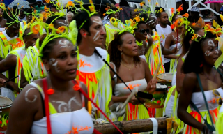 Revelry drinking and fun in the streets of this caribbean island
