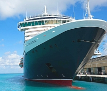 Cruise ship in Barbados port