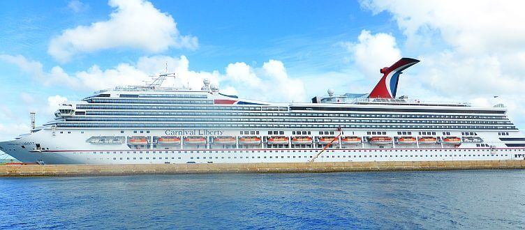 Cruise ship in the Barbados port