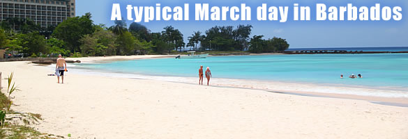 A typical March day in Barbados