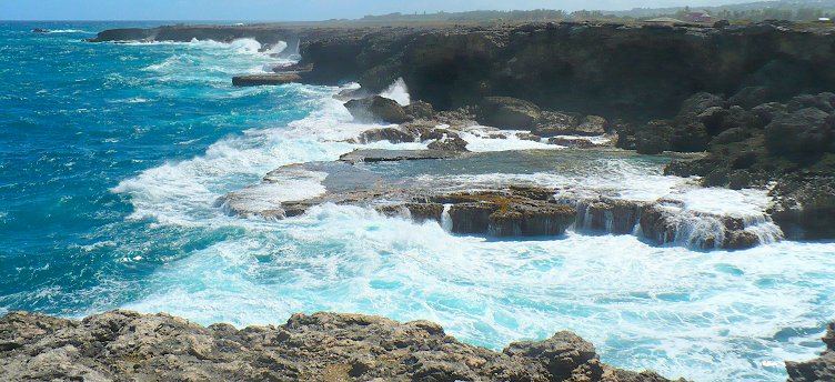 Rugged northern coastline of Barbados