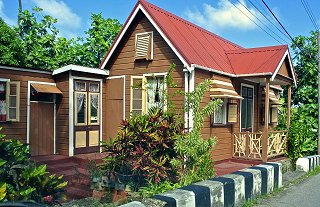 Traditional Barbados chattel house