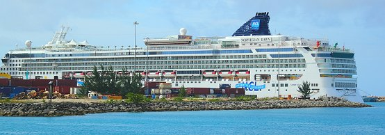 Cruise ship in Barbados harbour
