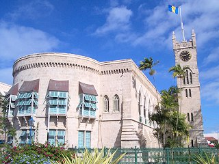 Barbados National Heroes Gallery - west wing of Parliament