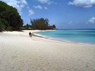 Enjoy a quiet Caribbean beach.
