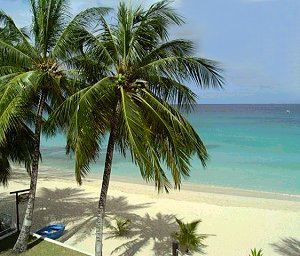 One of Barbados lovely west coast beaches