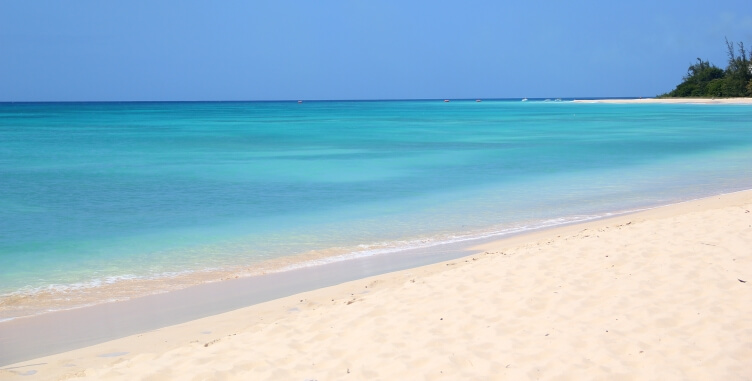 Soft white sands and turquoise waters at Brandons Beach