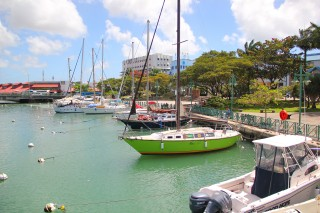 Boats in the Careenage at Bridgetown, Barbados