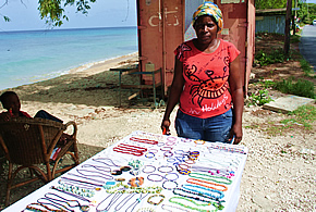 Barbados crafts vendor