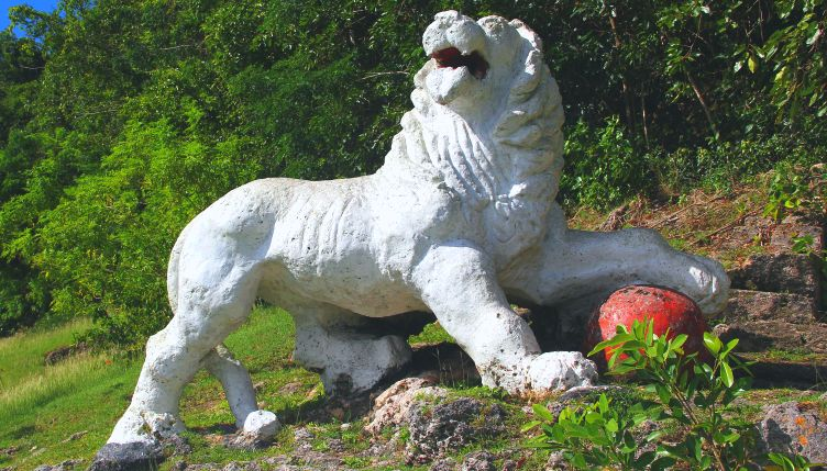 Lion Carving at Gun Hill