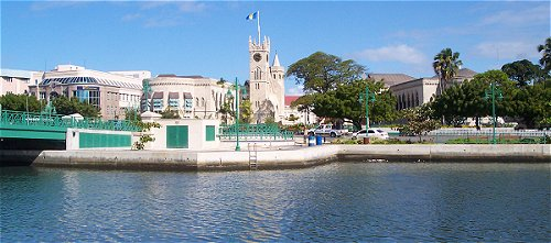 View from Independence Square Barbados