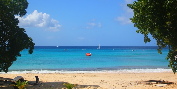 Beach at Mahogany Bay, Barbados